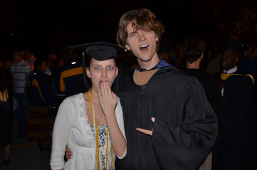 Getting an education is great. Even if your girlfriend steals your cap.