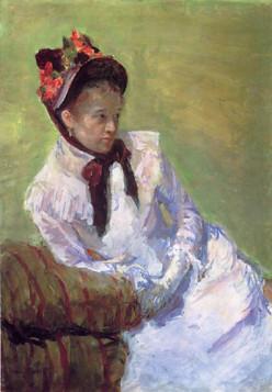 Self-portrait by Mary Cassatt.