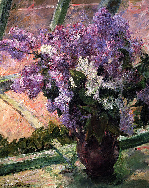 Painting of lilies by Mary Cassatt