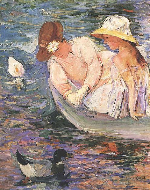 Painting by Mary Cassatt.