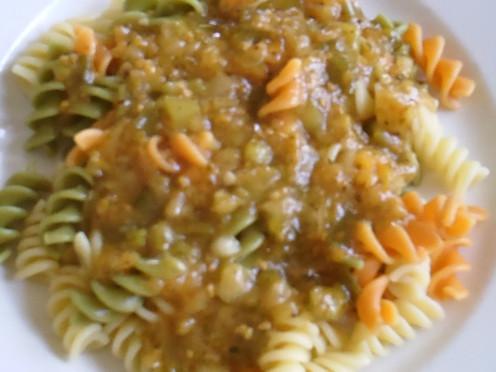 Finished Vegan Pasta Meal
