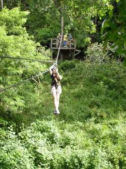 Close to Soufriere in the southern part of St Lucia, Morne coubaril Estate has an 8-platform series of zip lines with views of the plantation, the farm, the Soufriere Valley, and the Pitons.