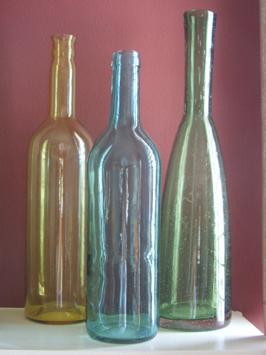 What to do with empty glass bottles?