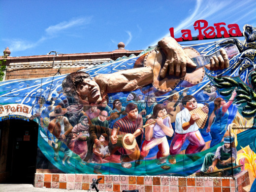 """The Mural at La Pena cultural center mural is set for a 'second skin"""" plans are underway to have a new mural put up. Funds for this project ($17000) are being raised through an Indigogo campaign, accessible through the link below"""