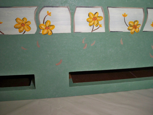 Continuing with the Flowers--Note Shadows for Falling Petals Below the Windows.
