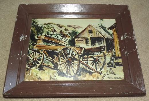 Original Caesar Hernandez Watercolor Painting: Abandoned