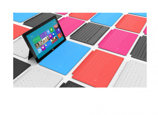 The new Microsoft Surface with an army of interchangable keyboards