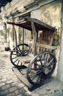 An Old Chair in Vigan, Ilocos Sur, Philippines