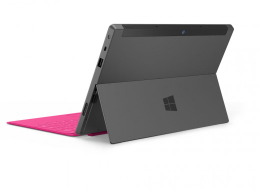 The new Microsoft Surface Pro with the simple but innovative photo-frame style kickstand