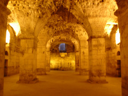 If it weren't for the substructure, we would never know how the upper floor of the Palace looked.  The massive columns and arches were used to reinforce the stone Palace and became an inspiration for the future construction of Christian churches.