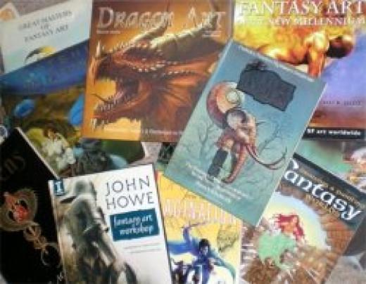 Fantasy art books for inspiration