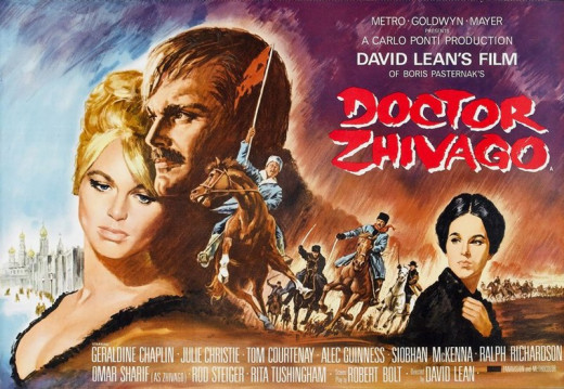 Doctor Zhivago (1965) poster art by Gilbert Allard