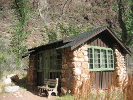 Cabin at Phantom Ranch, in the bottom of the Grand Canyon.