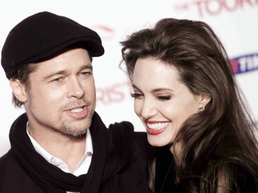 Angelina and her partner of 7 years, and soon to be husband - Brad Pitt