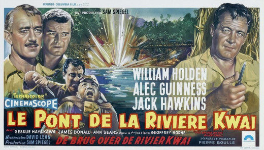 The Bridge on the River Kwai (1957) Belgian poster