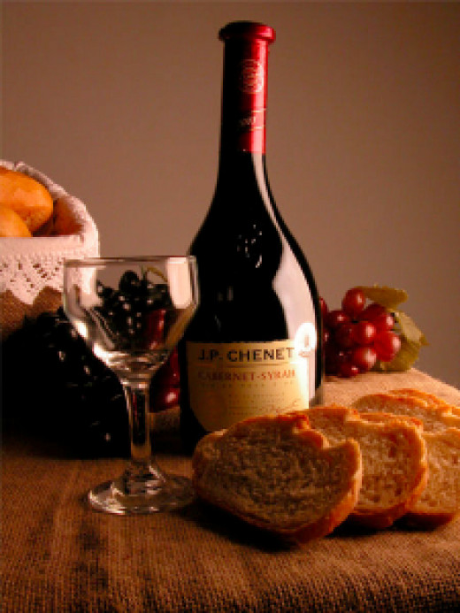 The Mediterranean diet: Whole-grain breads, red wine, cheese, yogurt, olives, fruit, and cold-water fish.
