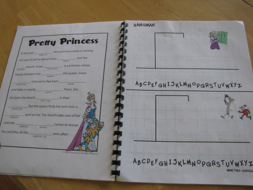 More MAD LIBS and some HANGMAN games from free-puzzles.net.  We LOVE Hangman.