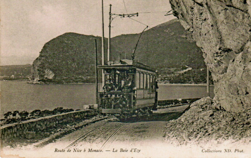 Coastal railroad between Nice and Monaco, 1902