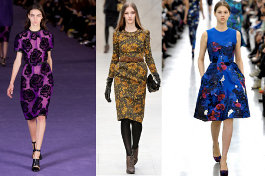 Dark Floral Prints - Top 10 Falls 2012 Trends