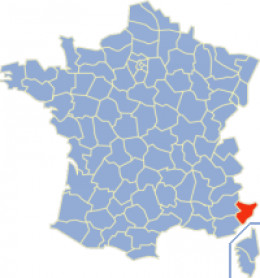 Map location of Alpes-Maritimes department, France