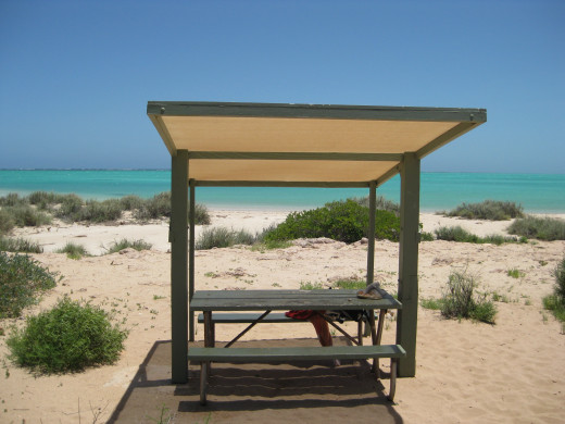 A deserted beach ....Ningaloo Reef a peaceful place to be to relax & unwind