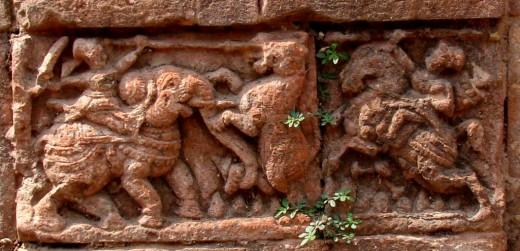 Hunting scene; Raghunath temple