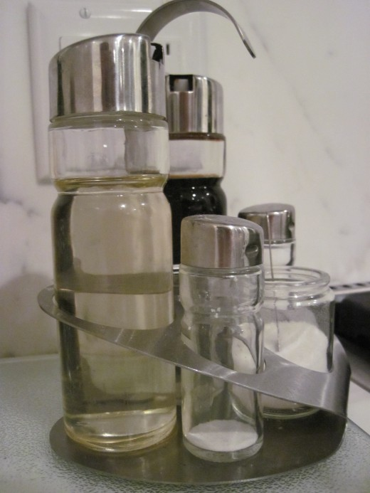 You can mix white vinegar in a spray bottle with water, or just pour it into a dish undiluted.