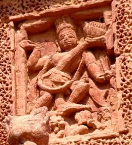 VAMANAVATAR: Lord Vishnu as Three legged dwarf subduing King Bali; Raghunath temple