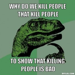 Philosoraptor meme on capital punishment
