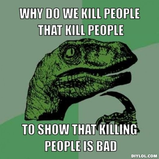 Philosoraptor meme on capital punishment