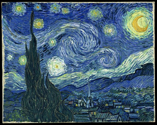 Starry Night painted by Vincent van Gogh