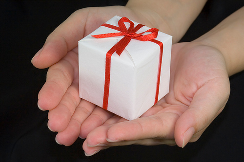 A little gift is a nice gesture to someone who is depressed.