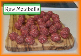 Making Meatballs: Shape meatball mixture into 3/4 to 1 inch balls.