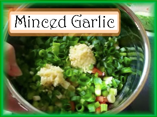 Mincing the Garlic: Mince 1 Tbsp of garlic.