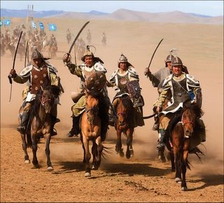 The khergits are highly inspirated on the mongol empire.