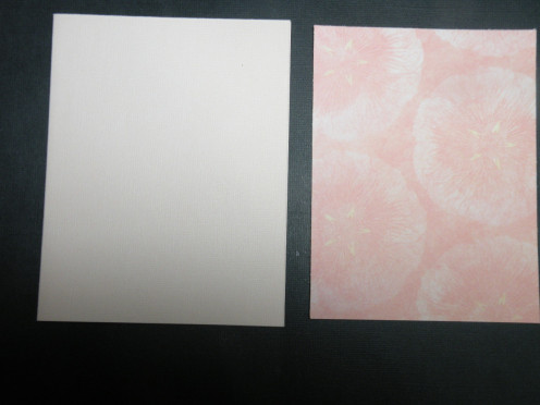 Base card and cardstock background