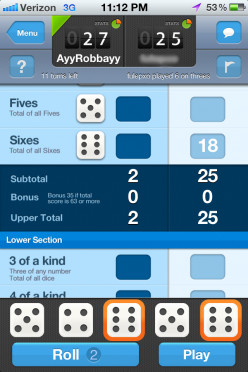 App Tutorial/ Review: Dice with Buddies