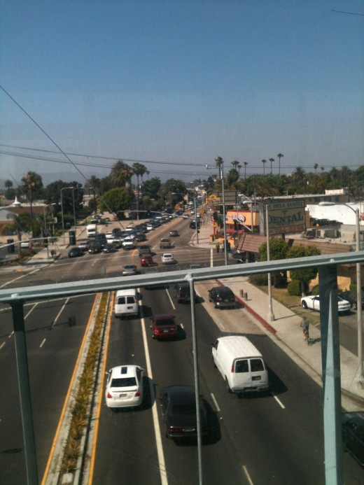 One of the west most locations of Popeye's can be seen from the Expo Line rail at La Brea/Exposition Blvd.