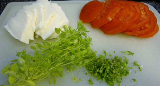 Fresh ingredients make this appetizer/meal enticing. Basil can even be grown in a pot on your porch, for quick access.
