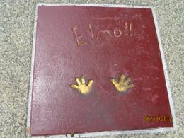 Elmo's hand prints