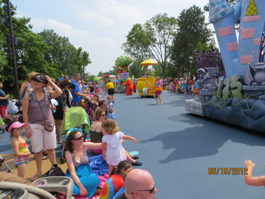 A look down Sesame Street during the parade