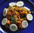 Indian Tricolor Biryani (Tiranga Biryani) - a family meal