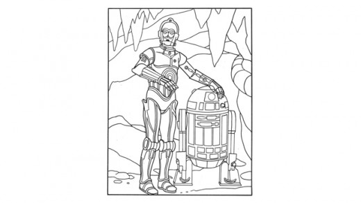 Example of a fun coloring page