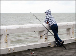Sometimes an expert fisherman (and woman), has to wait for hours for a fish to bite.