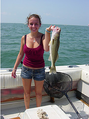 This pretty girl proves that fishing is not just for men.