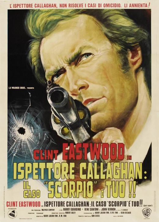 Dirty Harry (1971) Italian poster