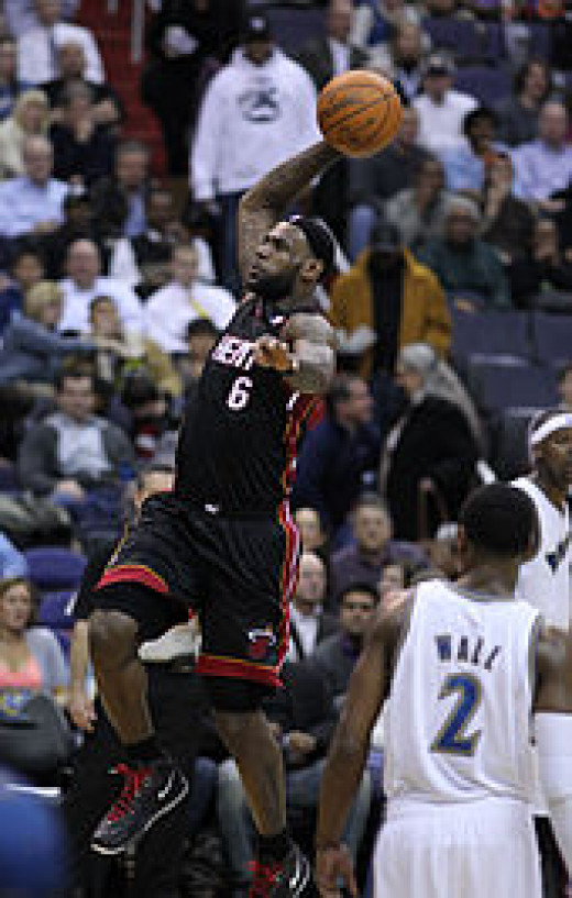 LeBron James going for one of his dunks