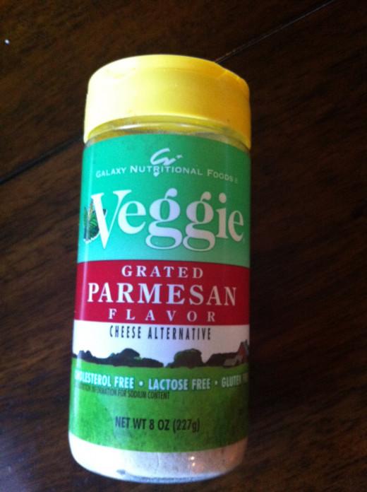 Veggie parmesan is an excellent option for vegans! It tastes just like regular parmesan.