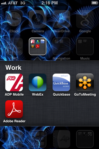 Tap the WebEx app to open it.