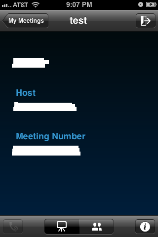 This screen appears until the host arrives.